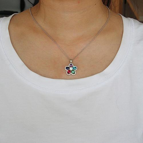 pendentif femme argent zirconium 8300732 pic4