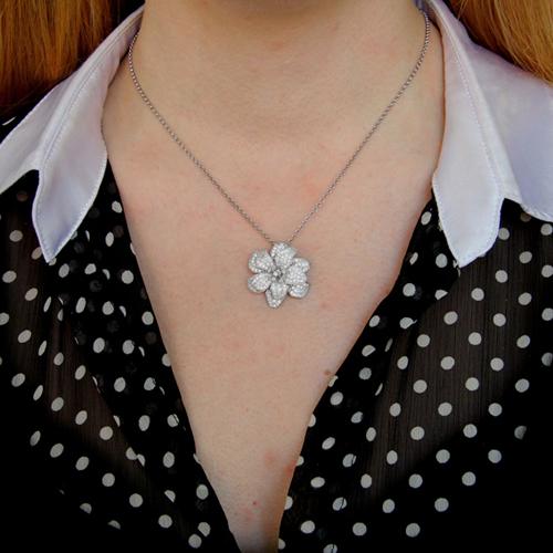pendentif femme argent zirconium 8300742 pic4