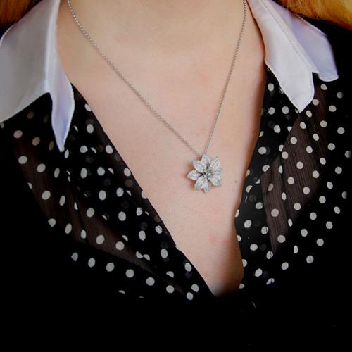 pendentif femme argent zirconium 8300743 pic5