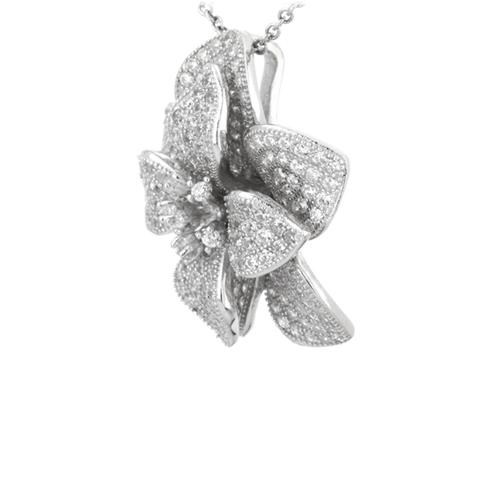 pendentif femme argent zirconium 8300744 pic2