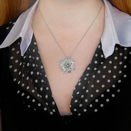 pendentif femme argent zirconium 8300746 pic4