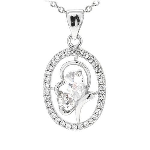pendentif femme argent zirconium 8300750