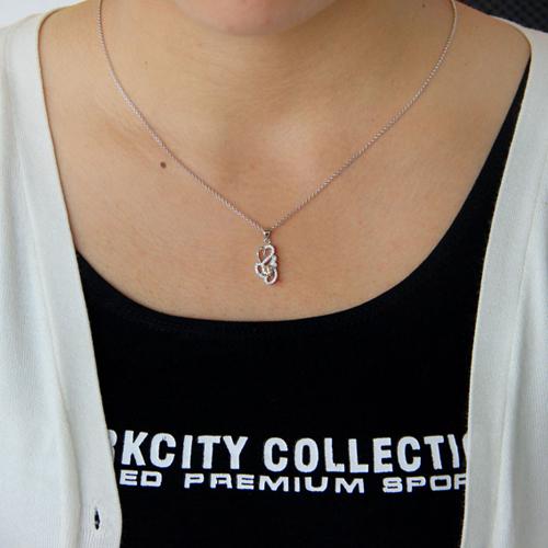pendentif femme argent zirconium 8300751 pic4