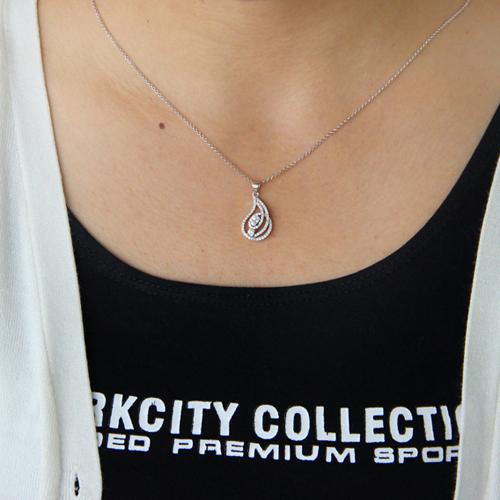 pendentif femme argent zirconium 8300752 pic4