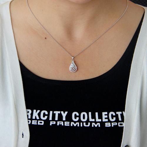 pendentif femme argent zirconium 8300753 pic4