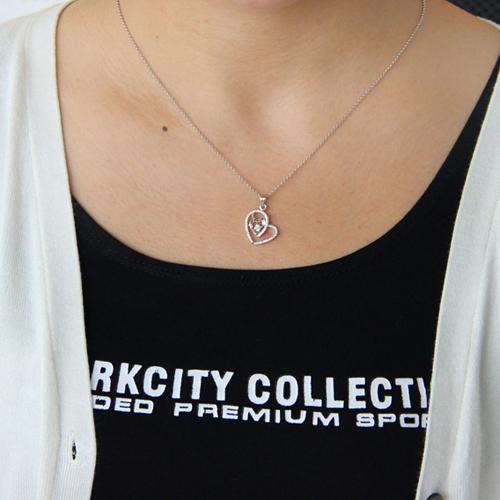 pendentif femme argent zirconium 8300754 pic4