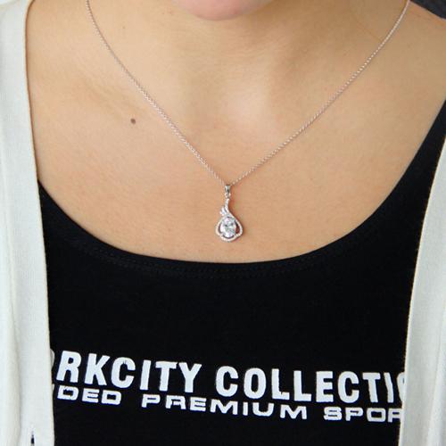 pendentif femme argent zirconium 8300756 pic4