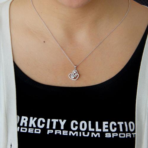 pendentif femme argent zirconium 8300757 pic4