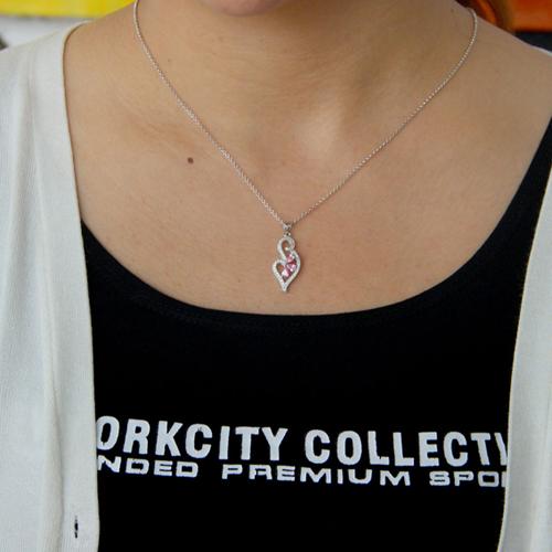pendentif femme argent zirconium 8300764 pic4