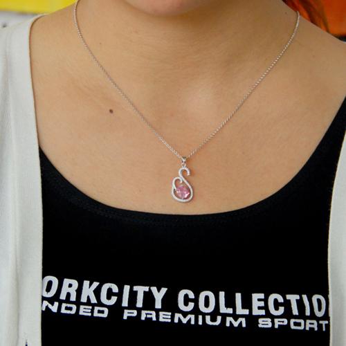 pendentif femme argent zirconium 8300765 pic4