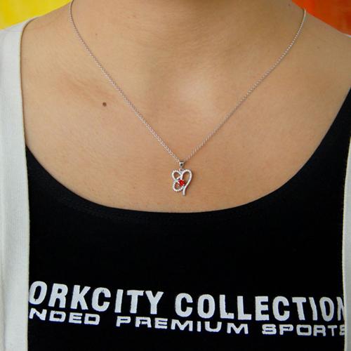 pendentif femme argent zirconium 8300766 pic4
