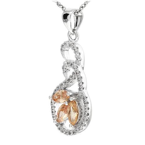 pendentif femme argent zirconium 8300767 pic2