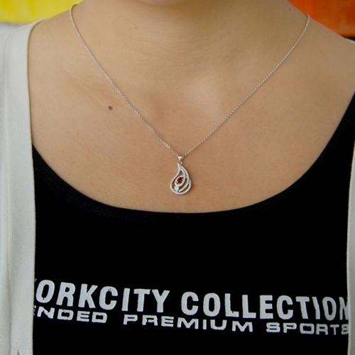 pendentif femme argent zirconium 8300768 pic4