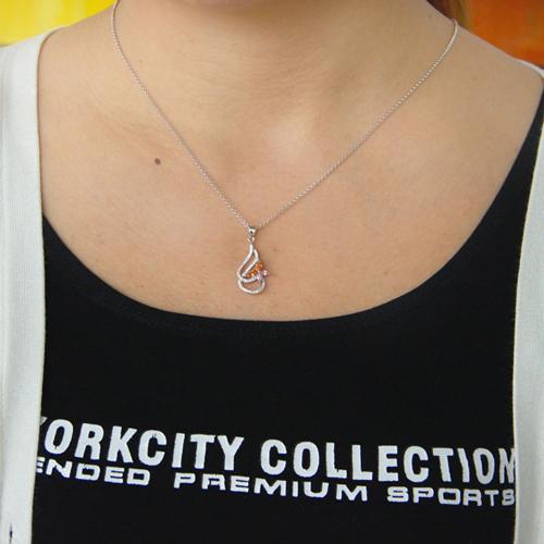 pendentif femme argent zirconium 8300770 pic4