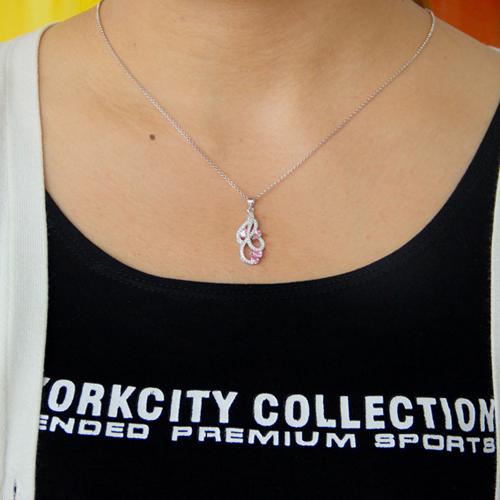pendentif femme argent zirconium 8300771 pic4