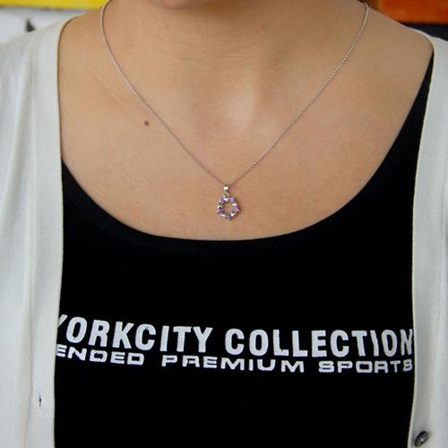 pendentif femme argent zirconium 8300775 pic4