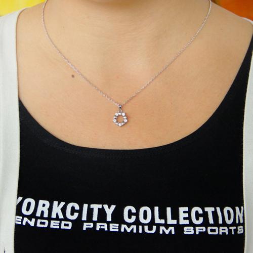 pendentif femme argent zirconium 8300776 pic4