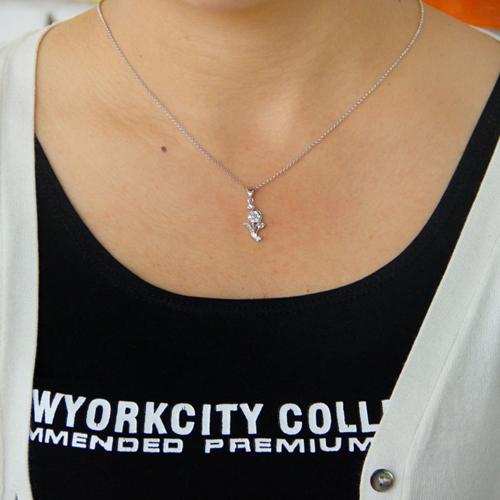 pendentif femme argent zirconium 8300779 pic4