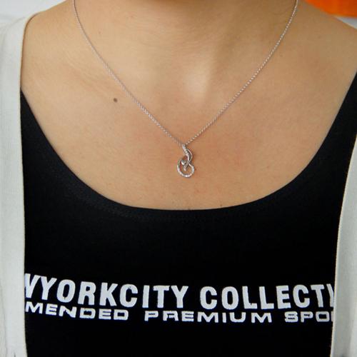 pendentif femme argent zirconium 8300780 pic4