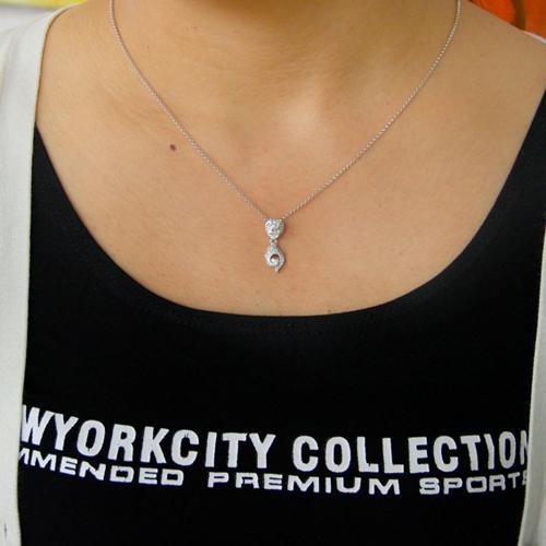 pendentif femme argent zirconium 8300783 pic4