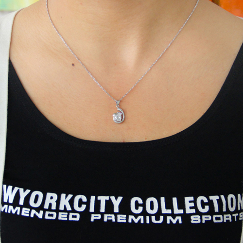 pendentif femme argent zirconium 8300786 pic4