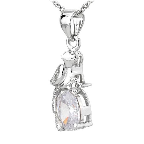 pendentif femme argent zirconium 8300787 pic2