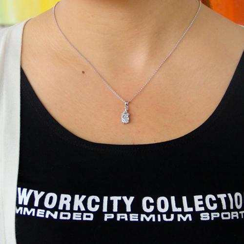 pendentif femme argent zirconium 8300787 pic4