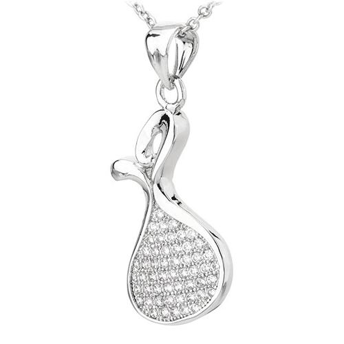 pendentif femme argent zirconium 8300790 pic2