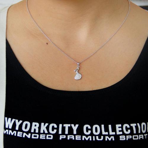 pendentif femme argent zirconium 8300790 pic4