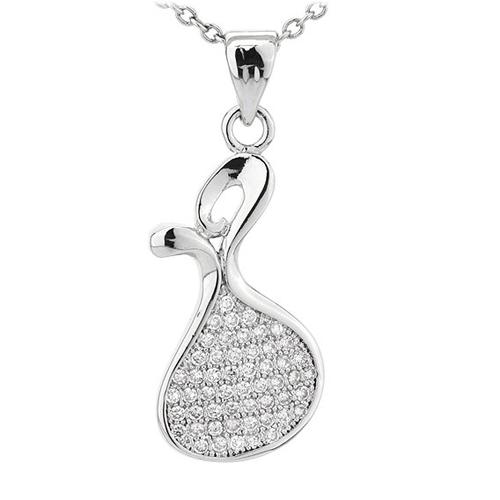 pendentif femme argent zirconium 8300790