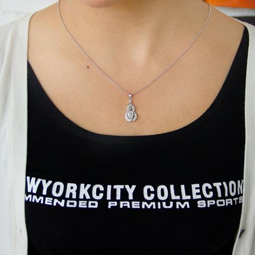 pendentif femme argent zirconium 8300791 pic4