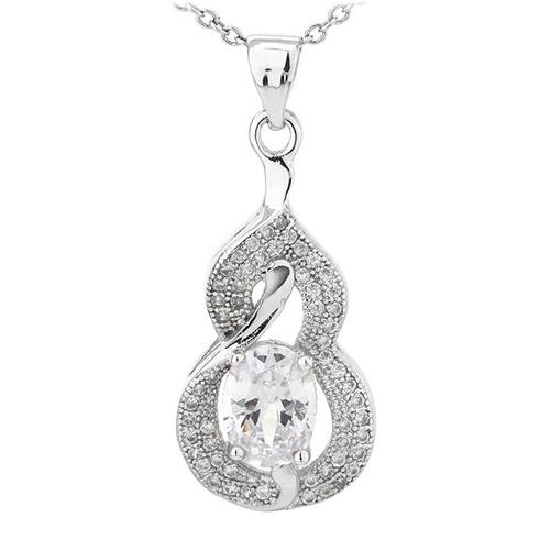 pendentif femme argent zirconium 8300791