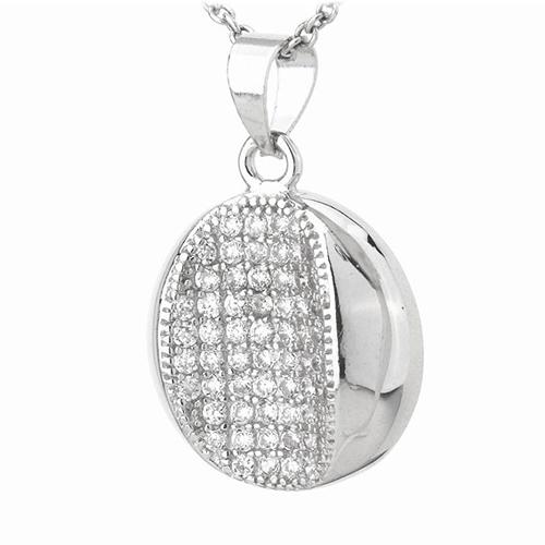 pendentif femme argent zirconium 8300793 pic2