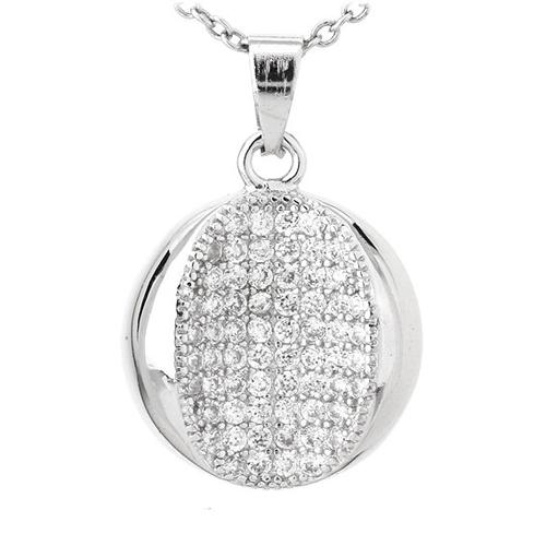 pendentif femme argent zirconium 8300793