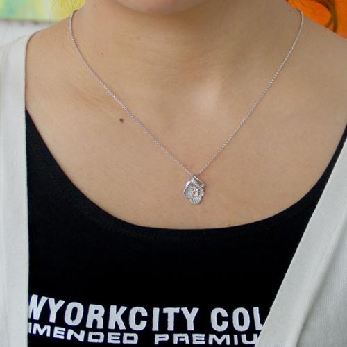 pendentif femme argent zirconium 8300794 pic4