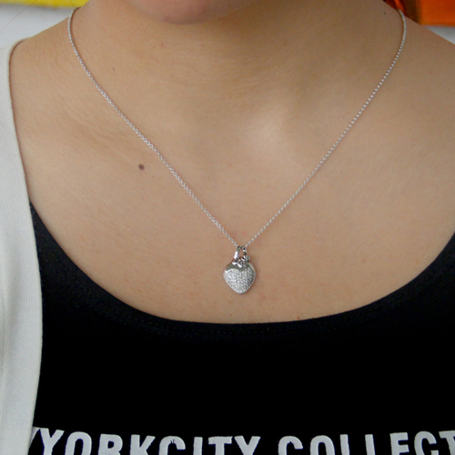 pendentif femme argent zirconium 8300795 pic4