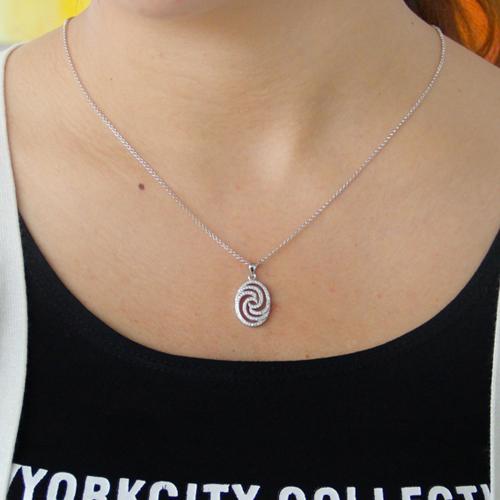 pendentif femme argent zirconium 8300796 pic4