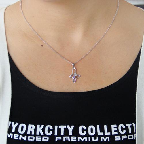 pendentif femme argent zirconium 8300798 pic4