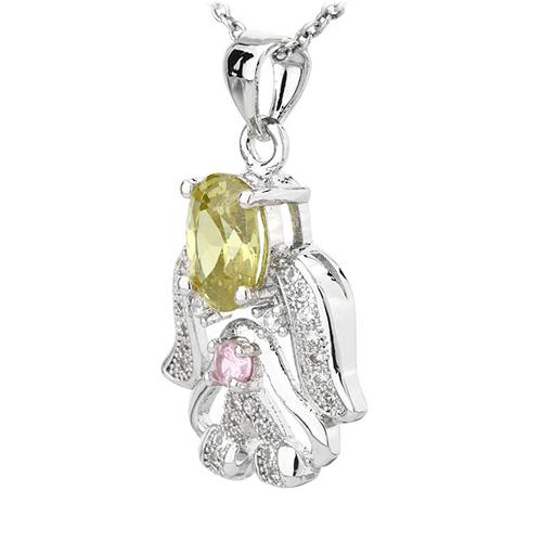 pendentif femme argent zirconium 8300799 pic2