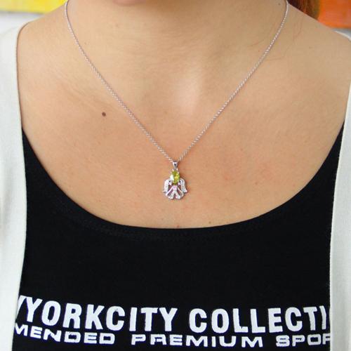 pendentif femme argent zirconium 8300799 pic4
