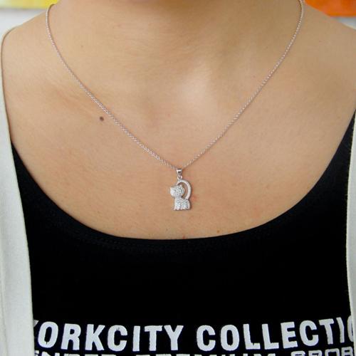 pendentif femme argent zirconium 8300807 pic4