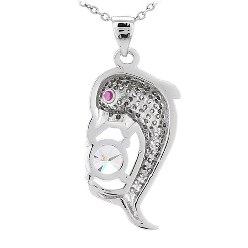 pendentif femme argent zirconium 8300814 pic3