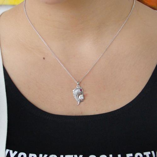 pendentif femme argent zirconium 8300814 pic4