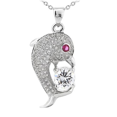 pendentif femme argent zirconium 8300814