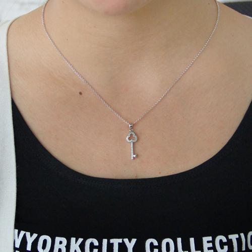 pendentif femme argent zirconium 8300817 pic4