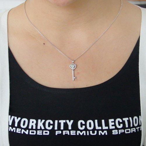 pendentif femme argent zirconium 8300818 pic4