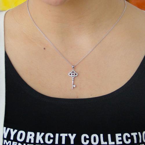 pendentif femme argent zirconium 8300819 pic4