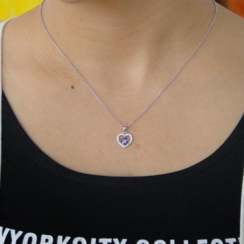 pendentif femme argent zirconium 8300823 pic4