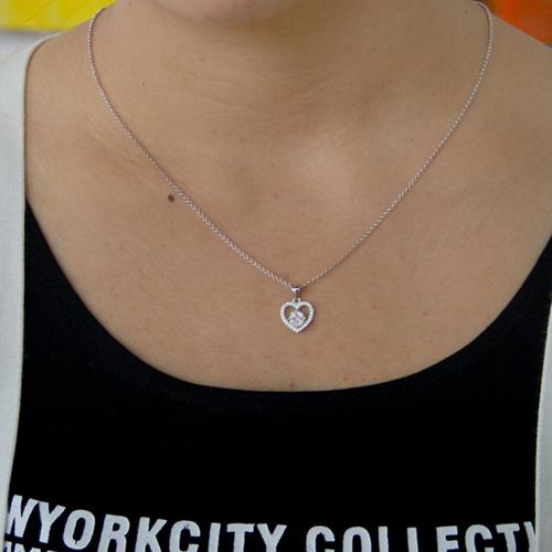 pendentif femme argent zirconium 8300824 pic4