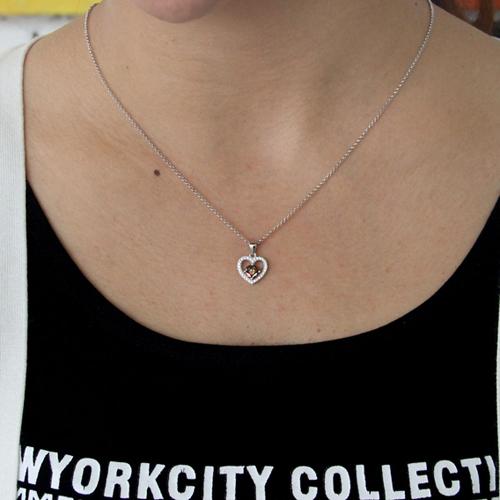 pendentif femme argent zirconium 8300827 pic4
